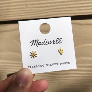 【NWT】Madewell Sun and Cactus earring/stud